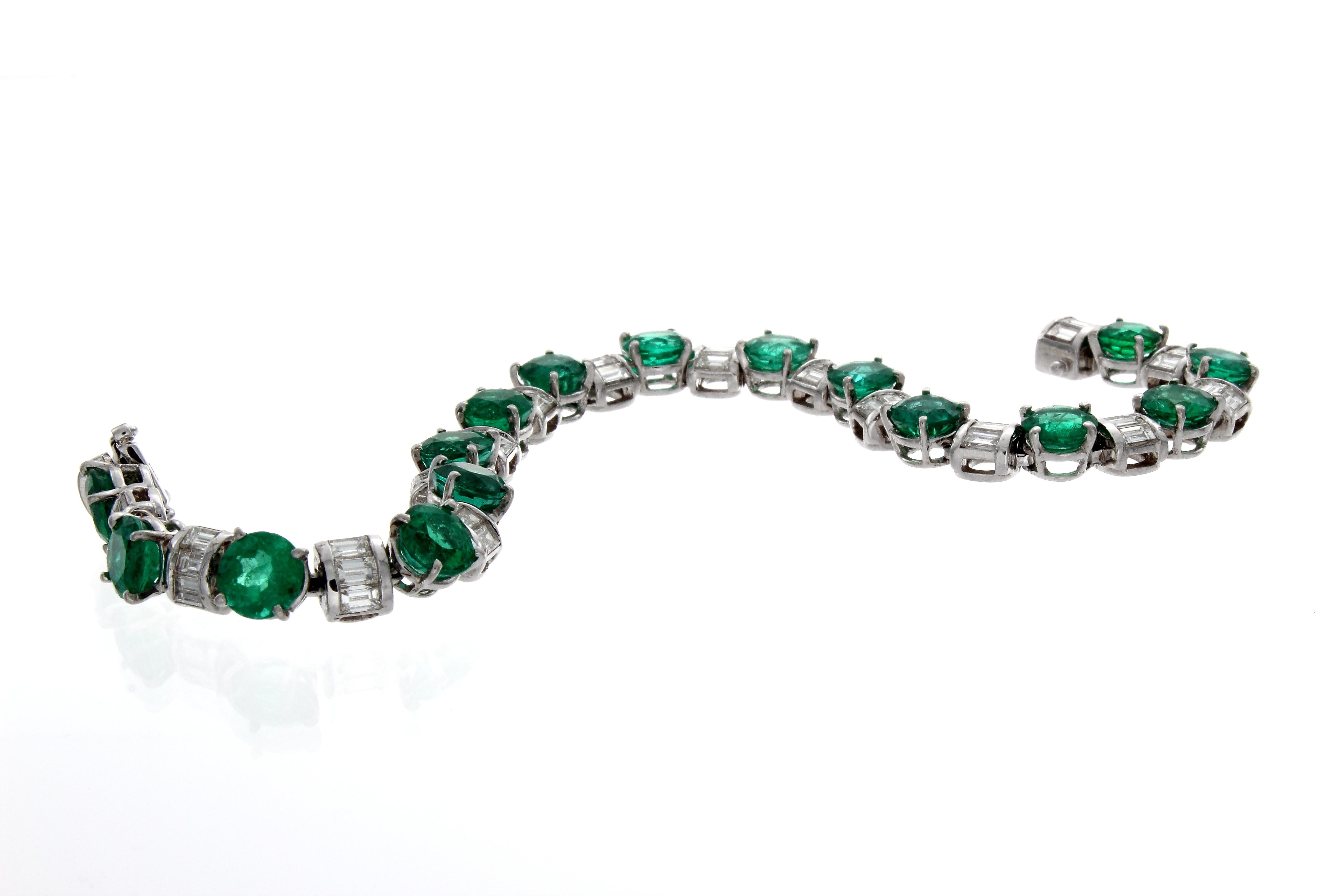 emerald amp baguette diamond bracelet