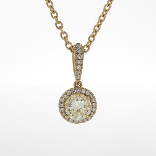FANCY LIGHT YELLOW DIAMOND .73 CT