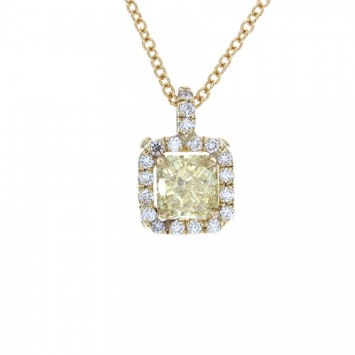 RADIANT YELLOW DIAMOND PENDANT