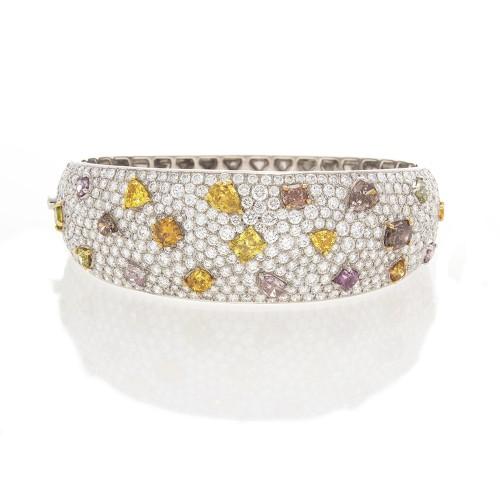 FANCY SHAPES & COLORS DIAMOND BANGLE