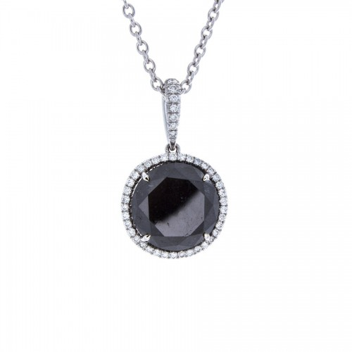 BRILLIANT BLACK DIAMOND PENDANT