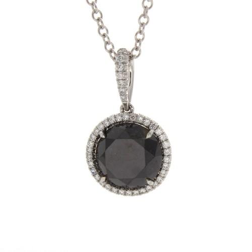 BRILLIANT BLACK DIAMOND 3.47 CT