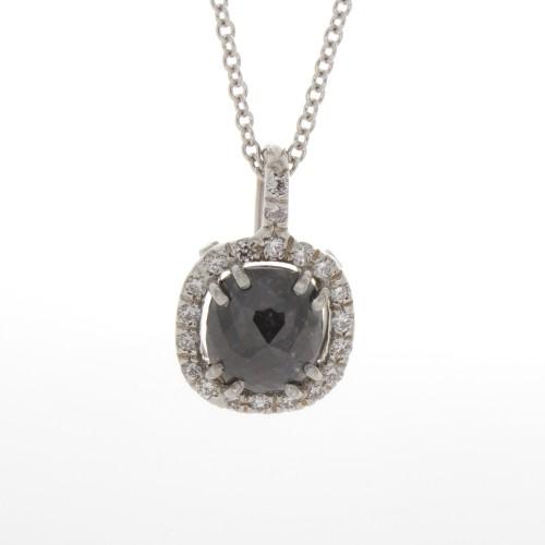 CUSHION CUT BLACK DIAMOND 1.37 CT