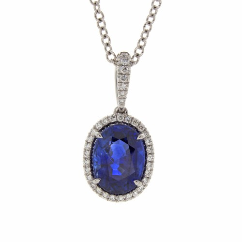 OVAL SAPPHIRE 3.23 CT