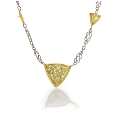 YELLOW TRILLIANT DIAMOND NECKLACE