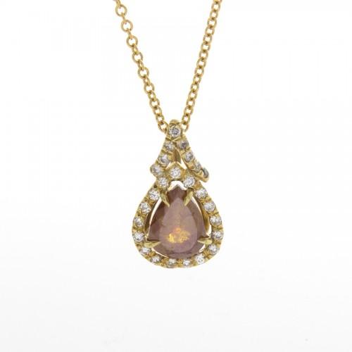 PEAR SHAPE BROWN DIAMOND 1.47 CTS