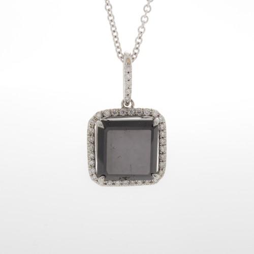 SQUARE BLACK DIAMOND 5.85 CT