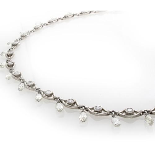 BRIOLETTE DIAMOND NECKLACE