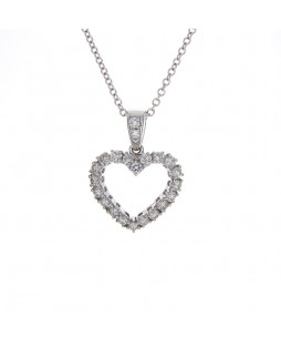 MICROPAVE HEART PENDANT