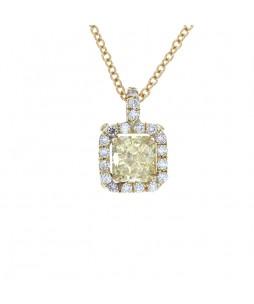 RADIANT YELLOW DIAMOND PENDANT