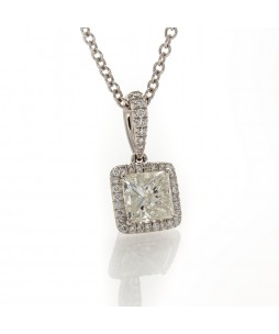 PRINCESS CUT DIAMOND PENDANT 1.17 CT