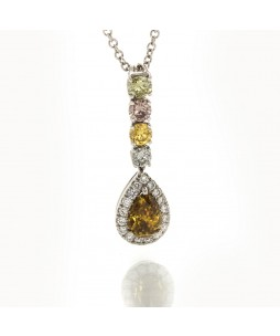 FANCY COLOR DIAMOND PENDANT