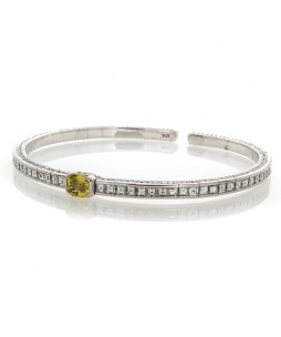 YELLOW SAPPHIRE AND DIAMOND BRACELET