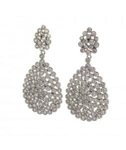 FULL CUT DIAMOND EARRINGS 6.09 CT