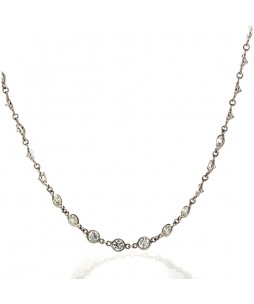 FULL CUT DIAMOND NECKLACE 7.88 CTS