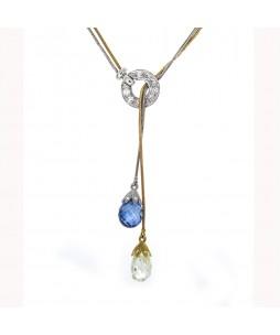 SAPPHIRE & DIAMOND BRIOLETTE NECKLACE