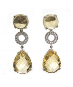 CITRINE & DIAMOND DANGLES