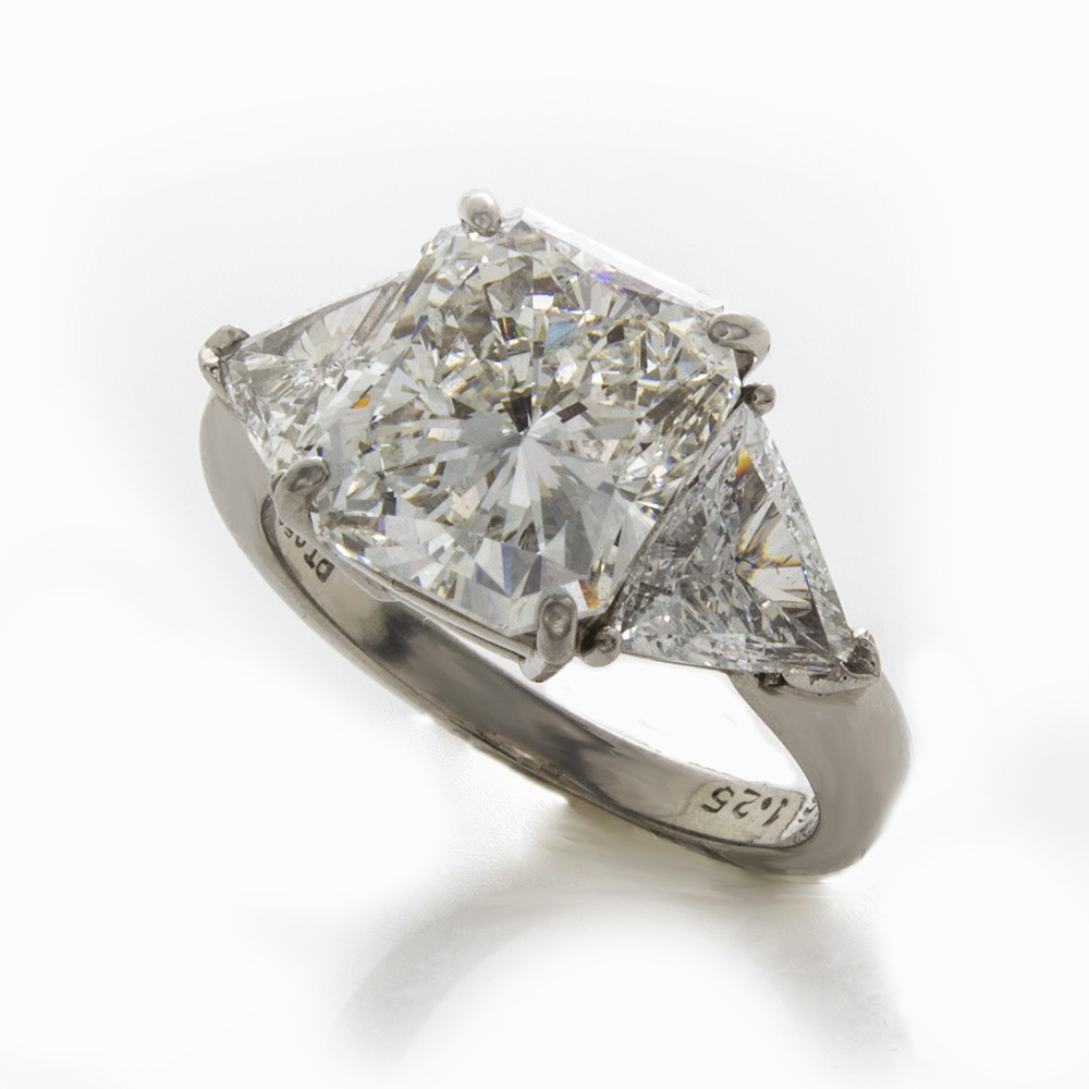 rings collection pin ring engagement carat estate radiant cut diamond betteridge