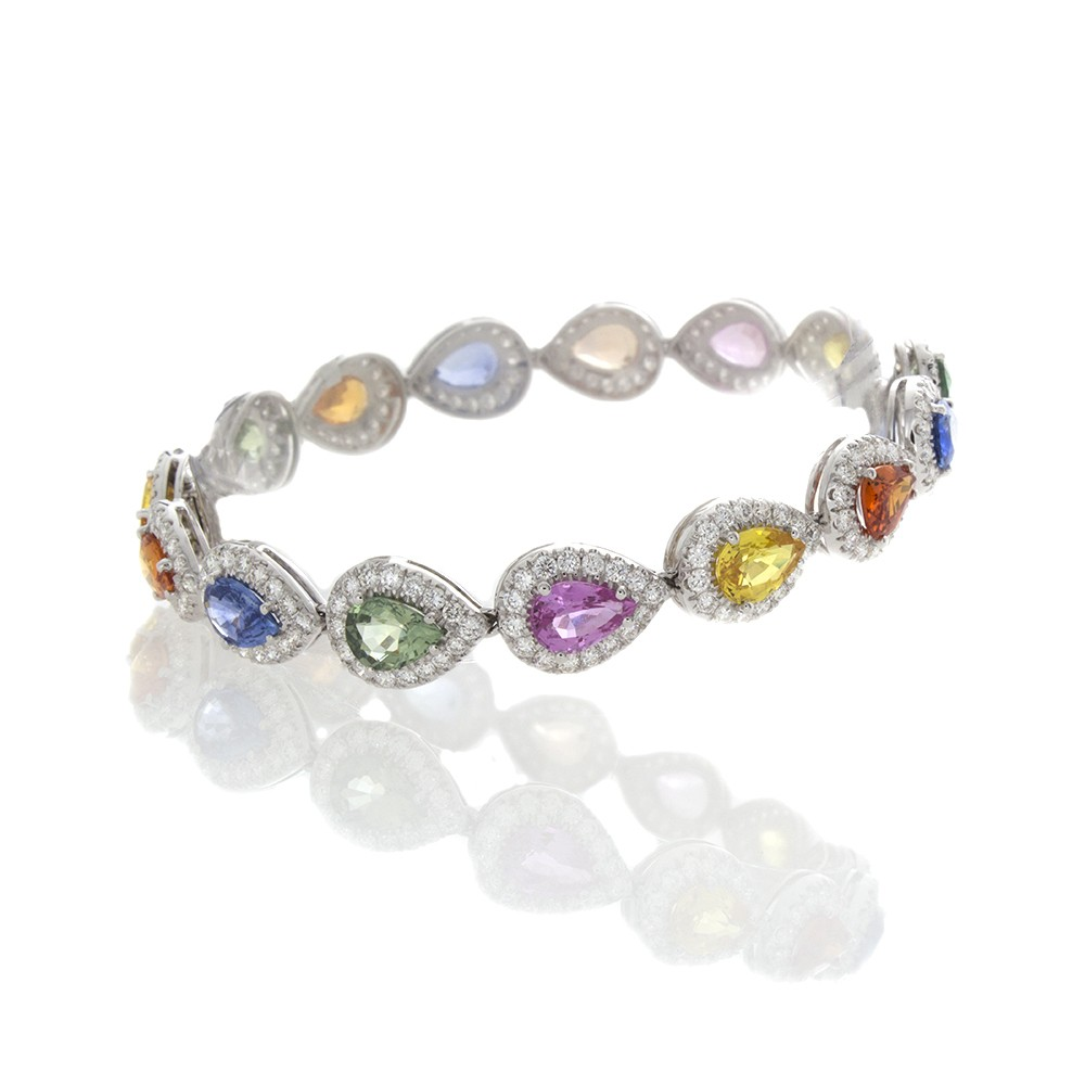 bracelet itm diamond and bangles bangle estate sapphire