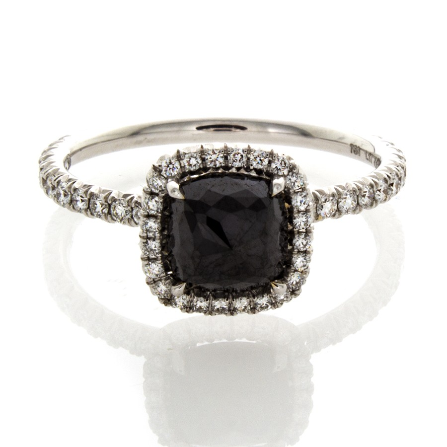 CUSHION CUT BLACK DIAMOND 1 17 CT