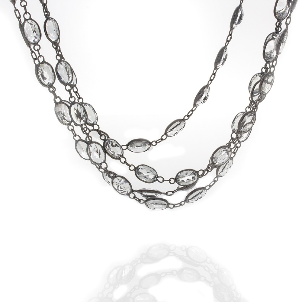 eternity topaz in necklace white gold yellow
