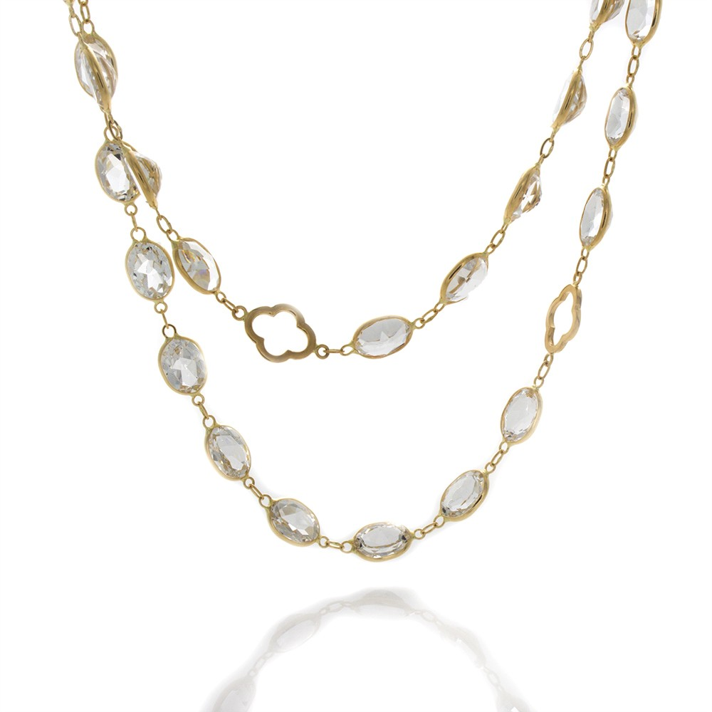 shop vermeil products with white topaz koa necklace