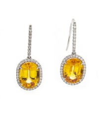 ORANGE-YELLOW SAPPHIRES 7.11 CTS