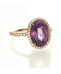 OVAL PINK SAPPHIRE 4.37 CT