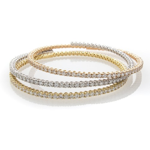 WHITE DIAMOND FLEX BANGLE