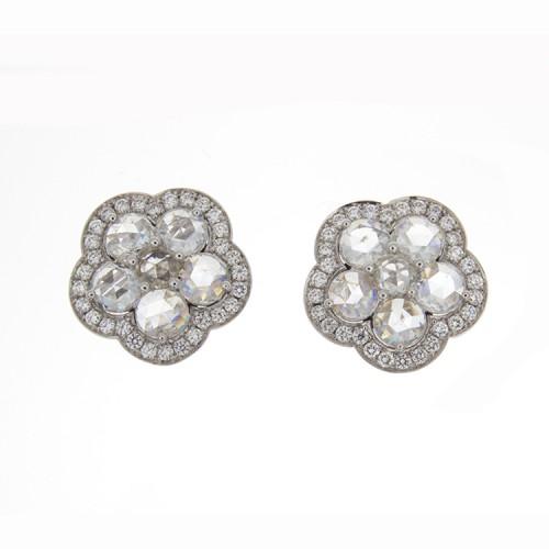 ROSECUT DIAMOND EARRINGS