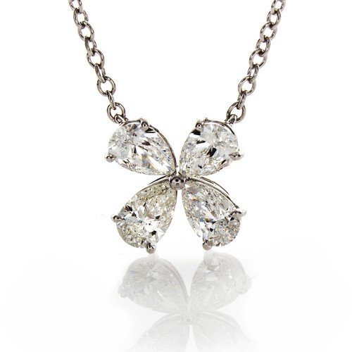 QUAD PEAR SHAPE DIAMOND PENDANT
