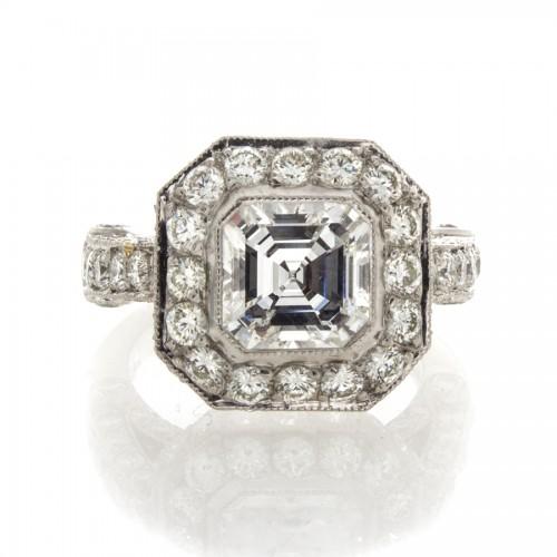 ASSCHER CUT DIAMOND 2.14 CT