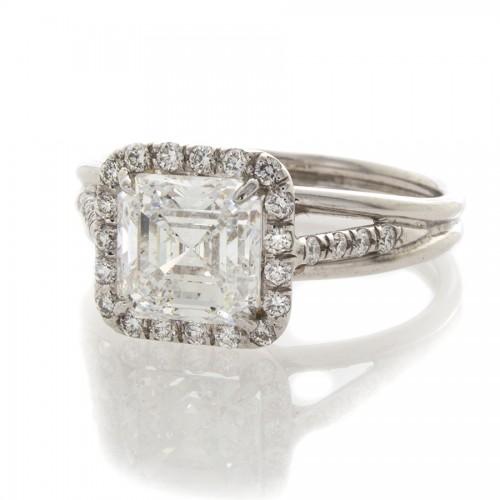 ASSCHER CUT DIAMOND 1.81 CT