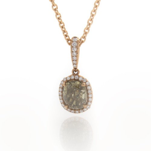 FANCY COLOR OVAL DIAMOND 1.69 CT