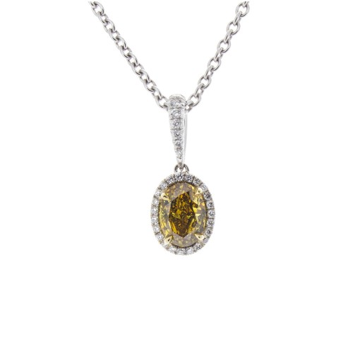 FANCY YELLOW-BROWN OVAL DIAMOND 1.00 CT