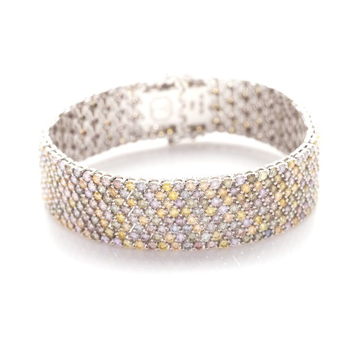 FANCY COLOR DIAMOND BRACELET