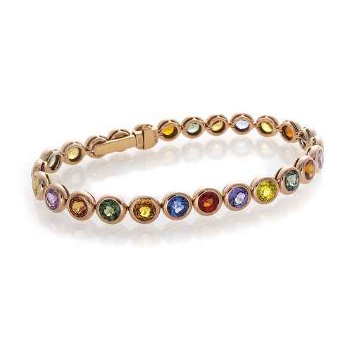 ROSE GOLD MULTI SAPPHIRE BANGLE