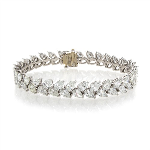 PEAR SHAPE DOUBLE ROW BRACELET