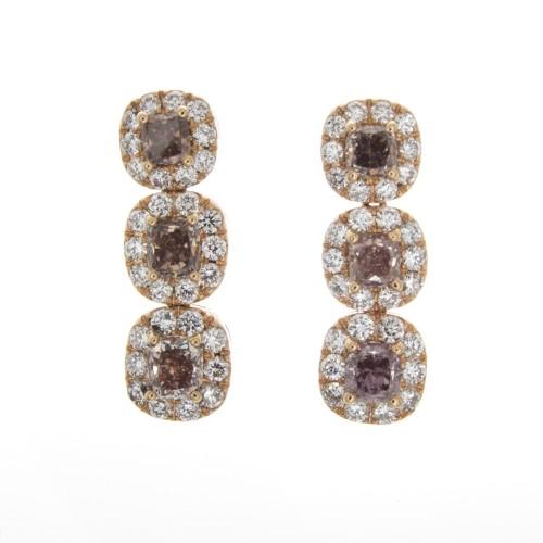 FANCY COLOR DIAMOND EARRINGS