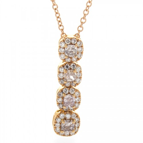 PINK FANCY COLOR DIAMOND PENDANT
