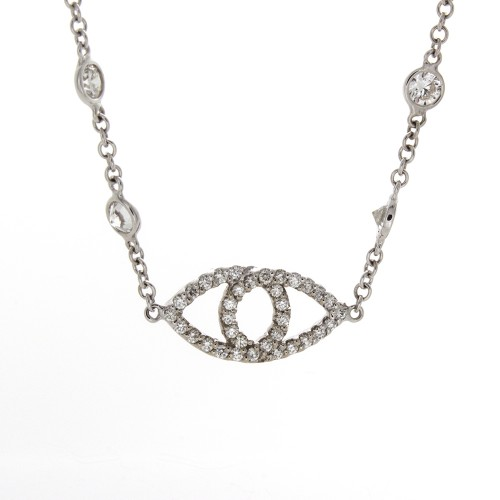 "DIAMOND ""EYE NECKLACE"