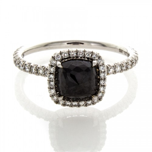CUSHION CUT BLACK DIAMOND 1.17 CT