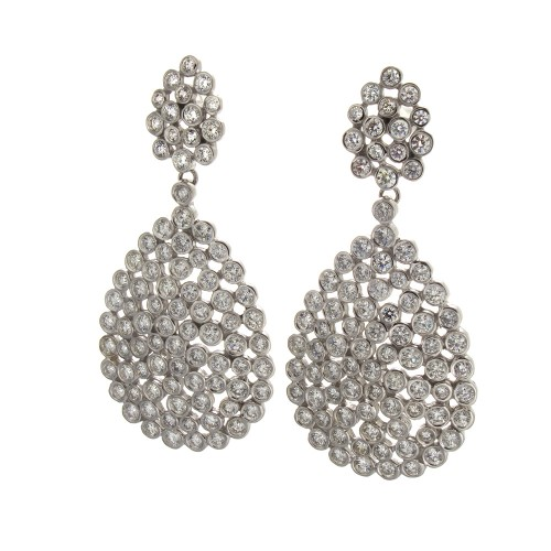 FULL CUT DIAMOND EARRINGS 6.09 CT
