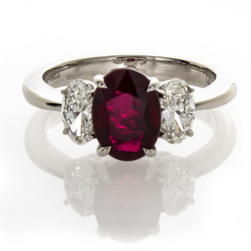 OVAL RUBY 2.00 CTS