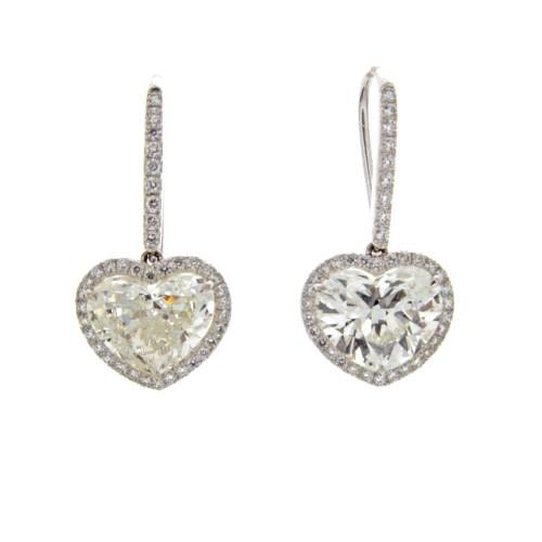 HEART SHAPE DIAMONDS 4.06 CTS