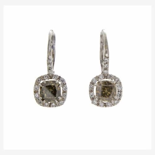 FANCY COLOR CUSHION CUT DIAMONDS 2.32 CTS
