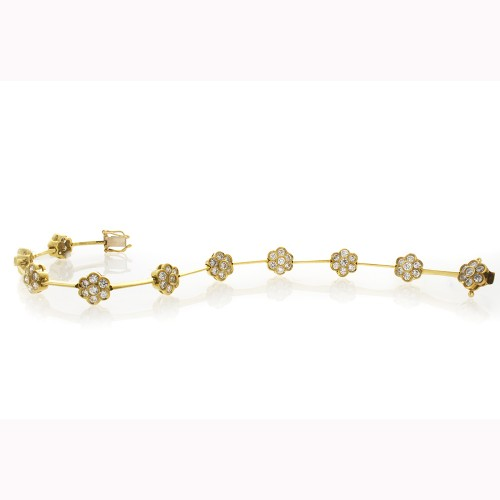 FLORAL MOTIF YELLOW GOLD BRACELET