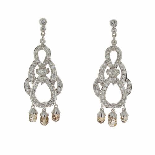 BROWN BRIOLETTE DIAMOND EARRINGS