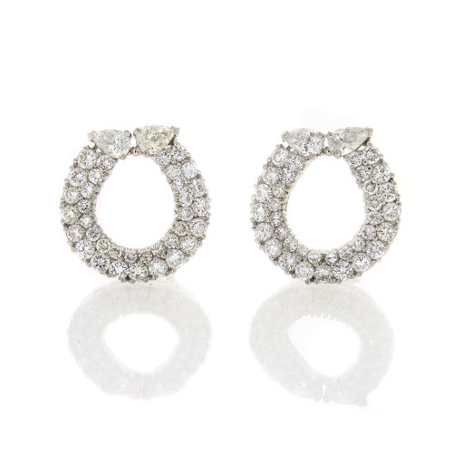 WINNERS CIRCLE DIAMOND EARRINGS