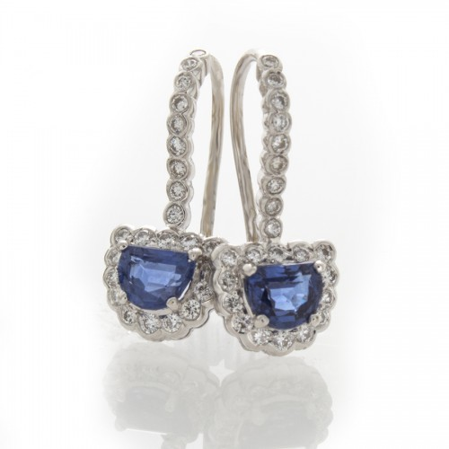 HALF MOON SAPPHIRE EARRINGS